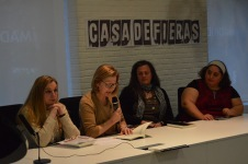 Presentación de «Mujeres en la historia»(3). Biblioteca Eugenio Trías, en Casa de Fieras del Retiro, Madrid-2016