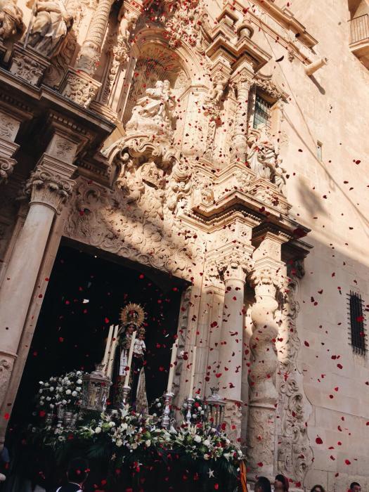 Procesión Virgen del Carmen. Salida de Santa María. Alicante,16 de julio del 2018